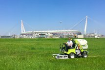 Grillo FD13.09 in front of the Juventus Stadium, Turin (Italy)