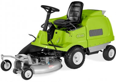 It is a real pleasure to drive Grillo FD220 R, a lawnmower with out-front cutter deck that ensures a perfect cut quality