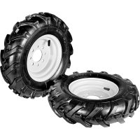 Pair pneumatic 'Tractor' wheels 4.00-8 [fixed discs] - COD. 900112